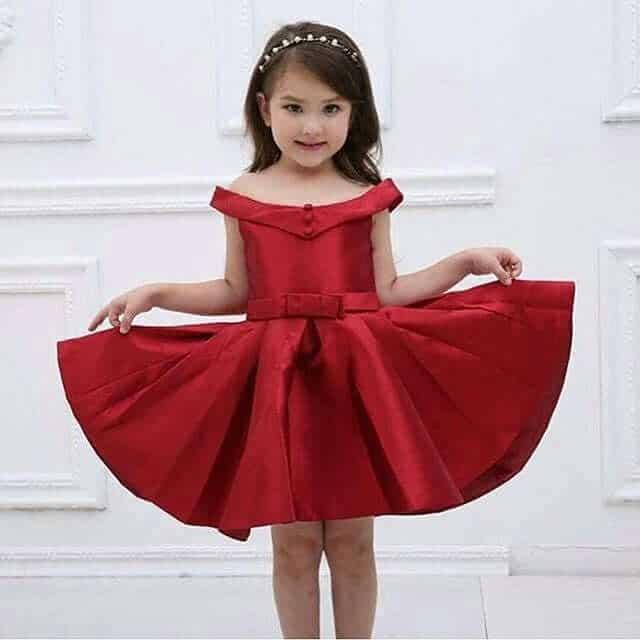 vestido rojo de navidad para niña