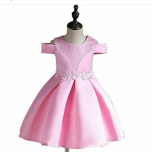 vestido rosa de shifon para niñas