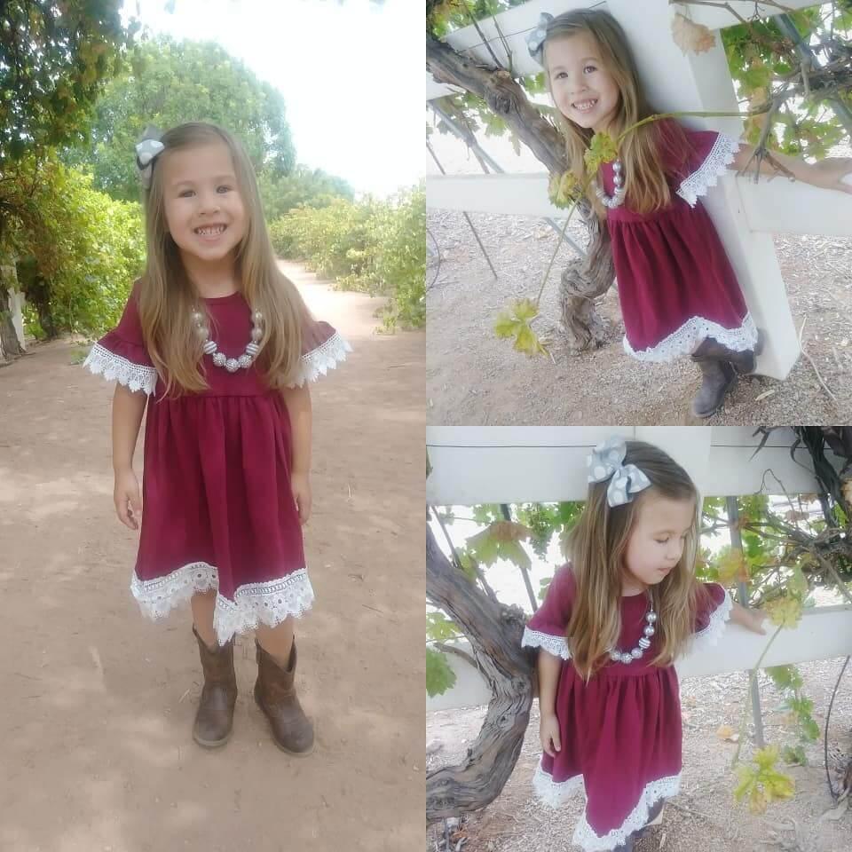 vestido simple de navidad para niñas