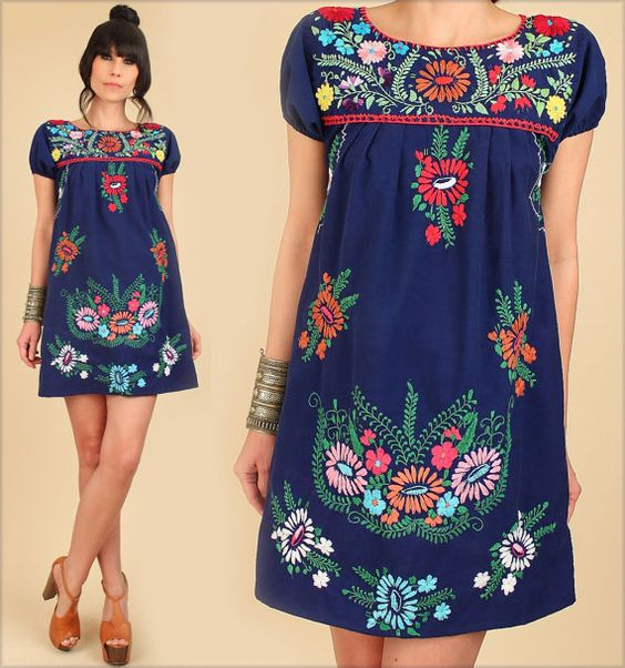mejor servicio 667eb 28a94 🥇 La última tendencia en vestidos bordados de flores ...