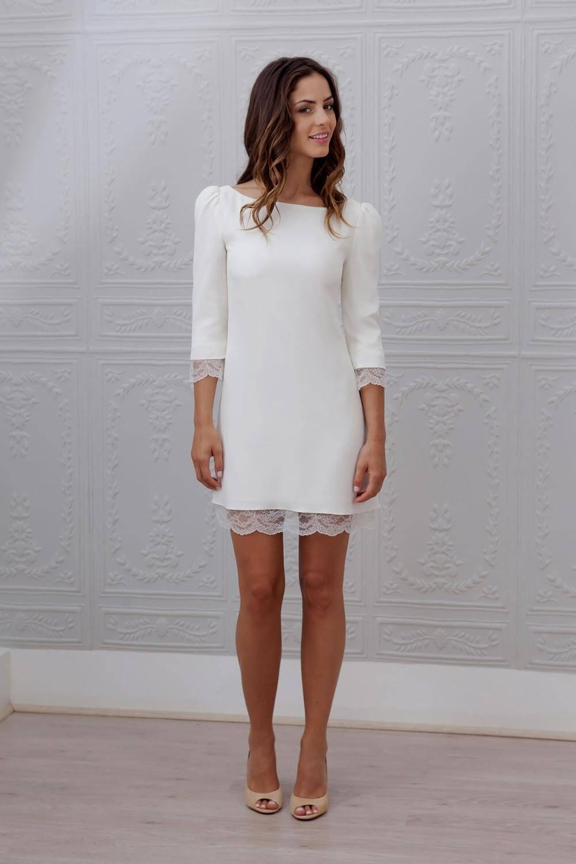 vestid de novia corto recto