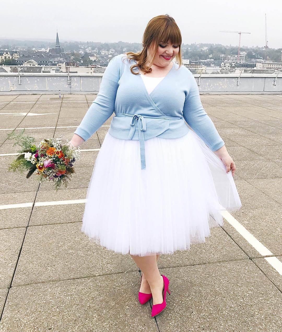 vestido corto de novia para gorditas