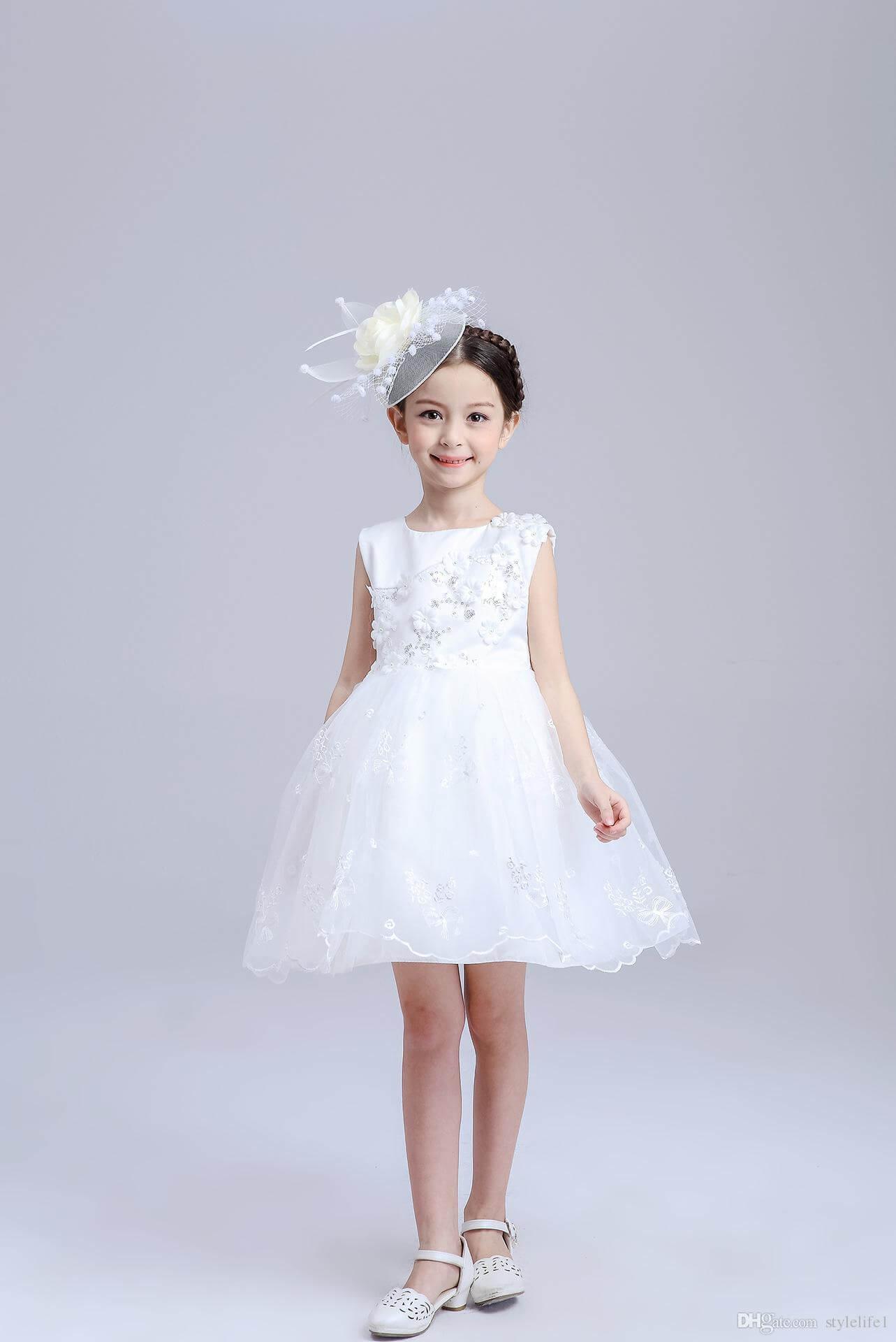 vestidos damas de honor corto para niña