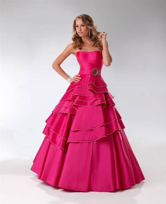 vestido de 15 color fucsia