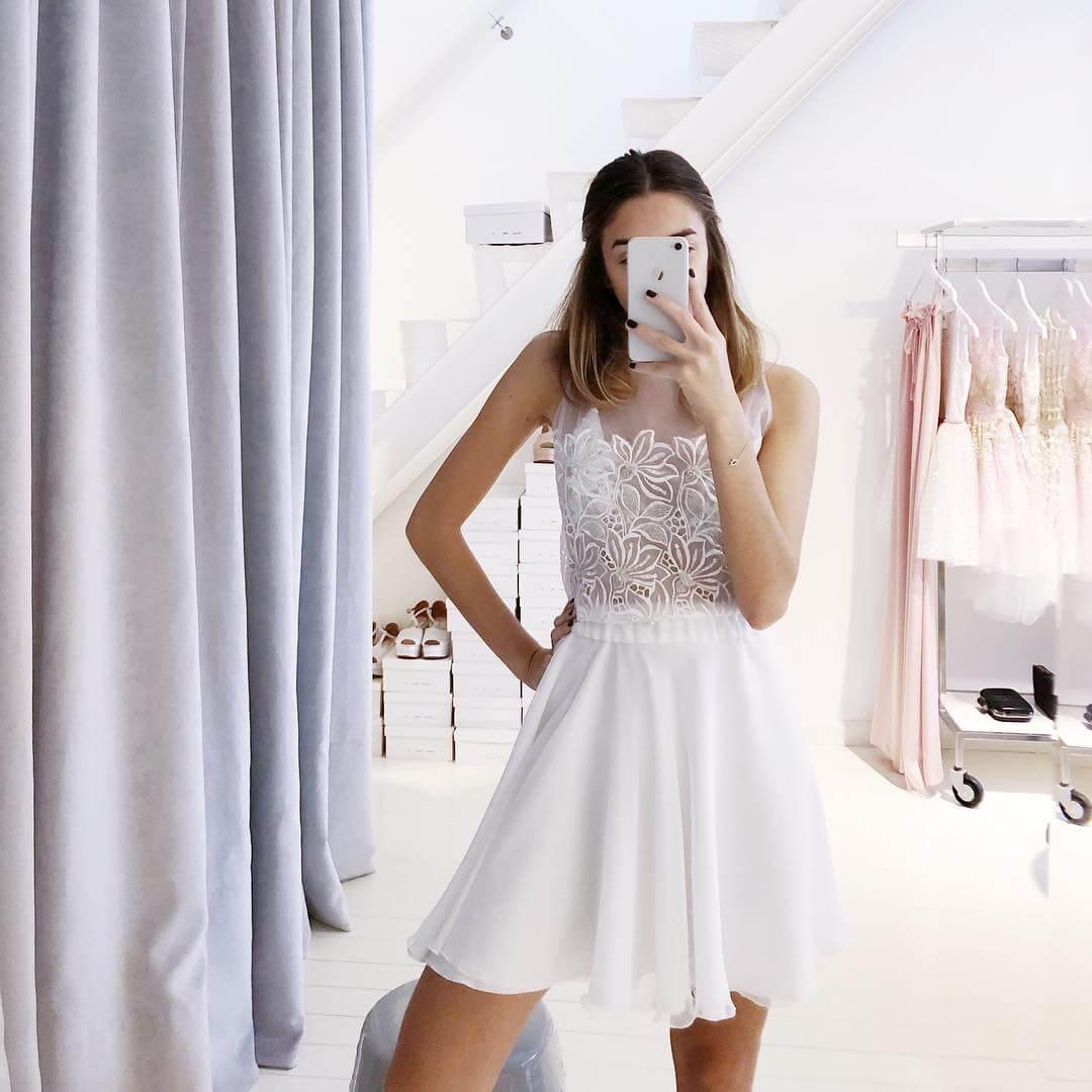 vestido de 15 corto sencillo