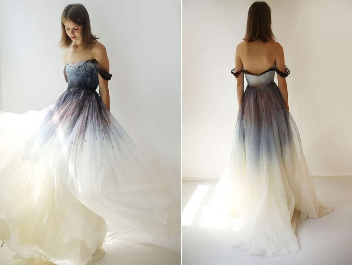 vestido de 15 moderno ombre o degradado