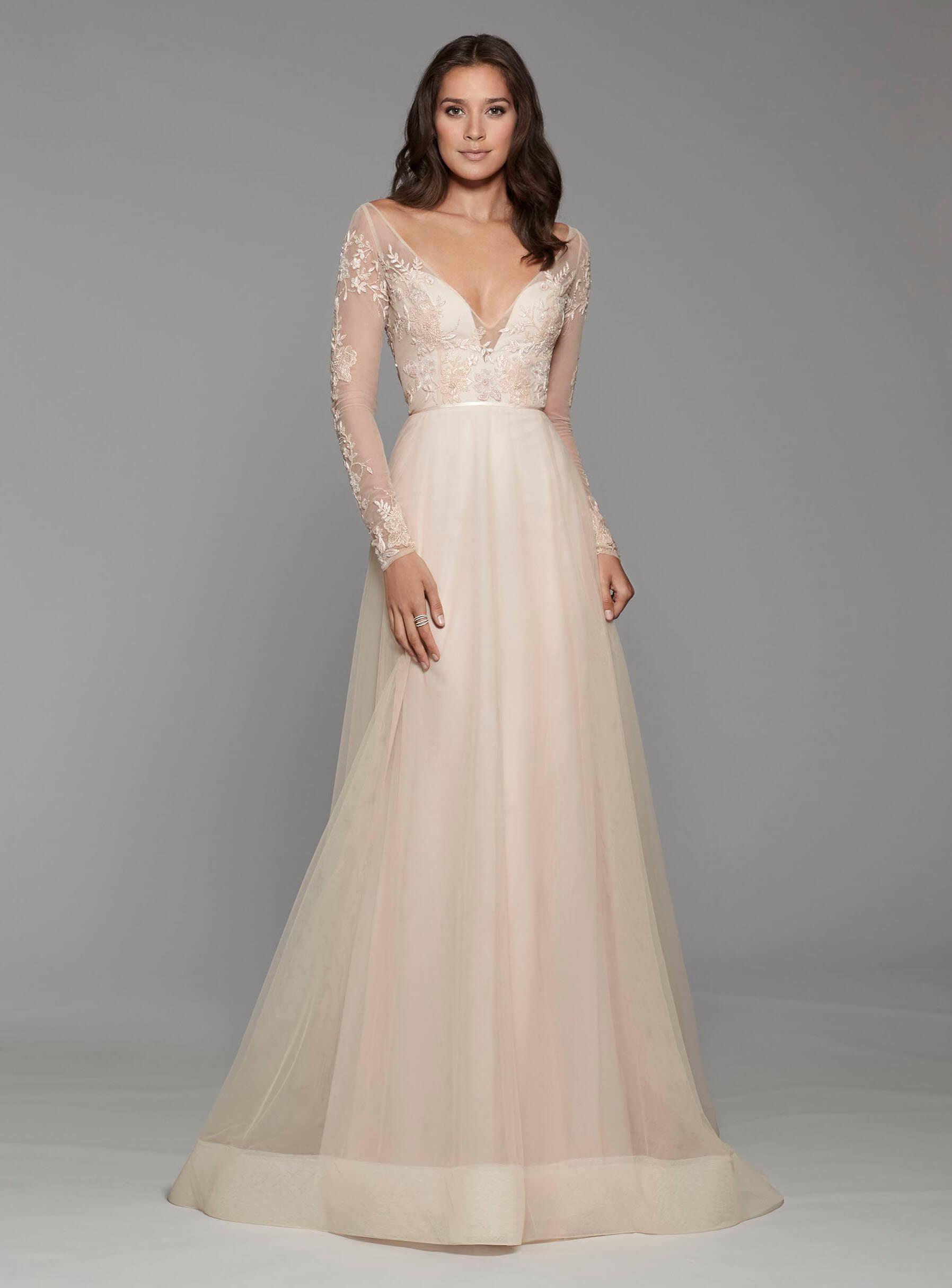 vestido de 15 sencillo largo color palo