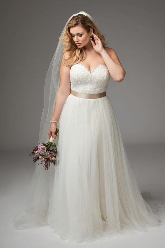 Imagenes de vestidos de novia para rellenitas