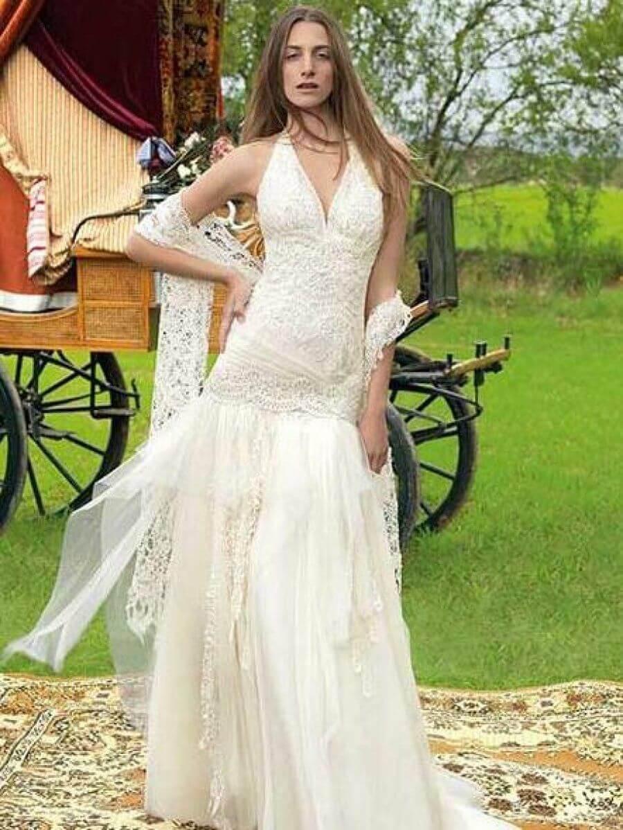 vestido de novia barato sin mangas