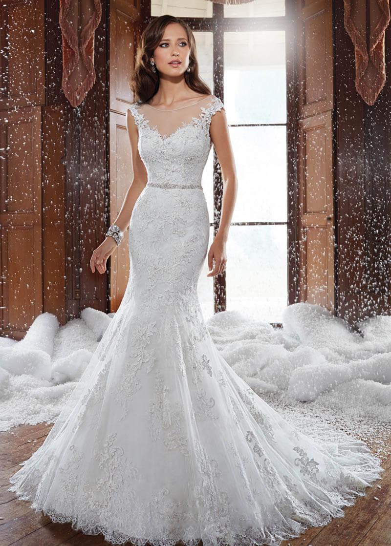 Vestidos de novia de encaje corte sirena vintage