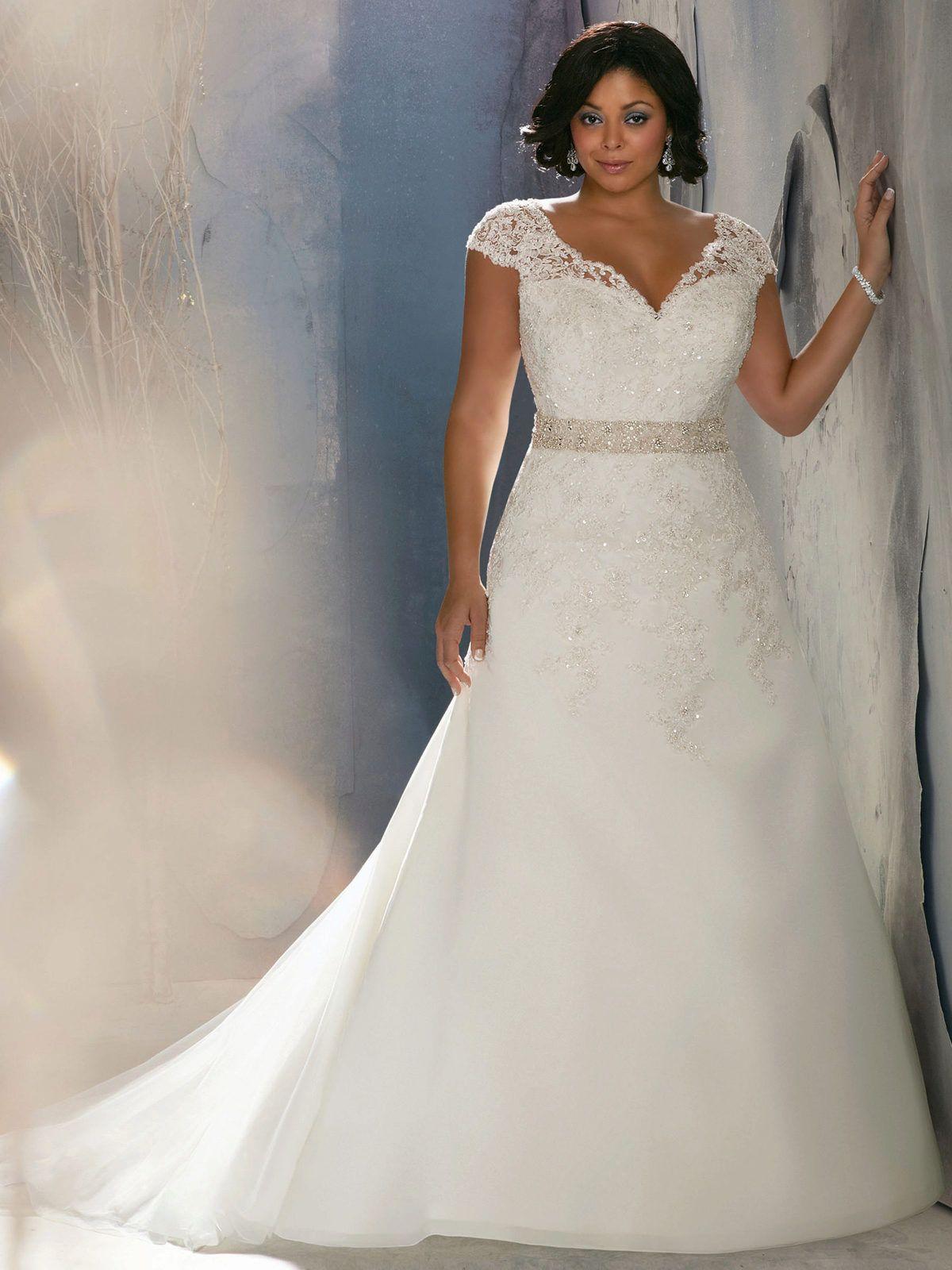 vestido de novia clasico para gorditas