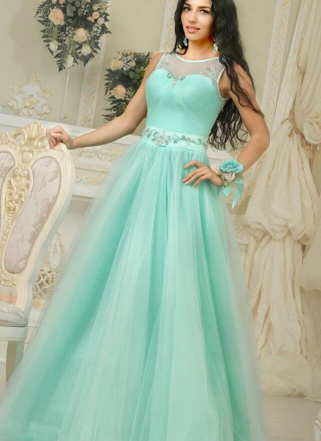 vestido de novia color verde