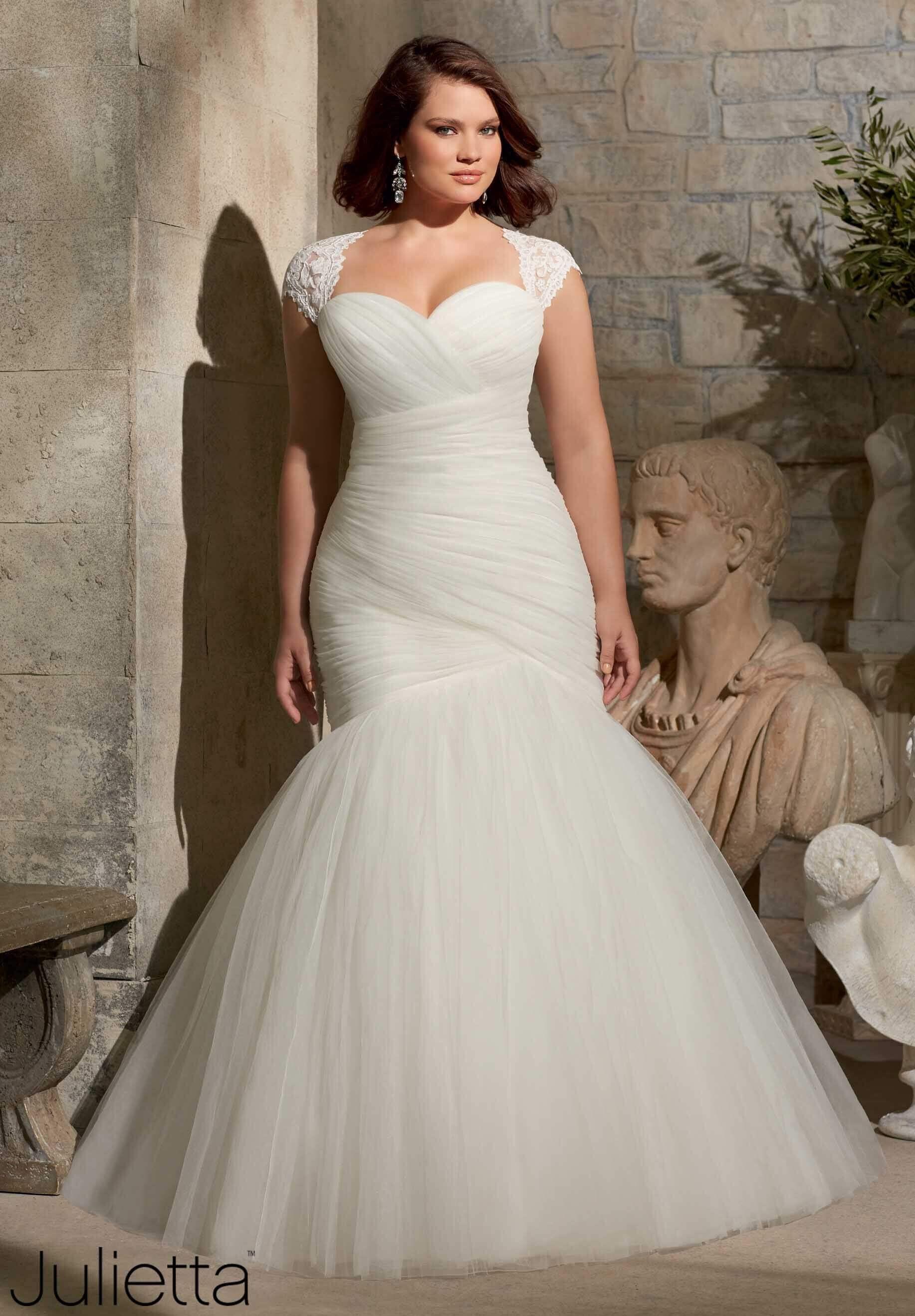 vestido de novia corte sirena para gorditas