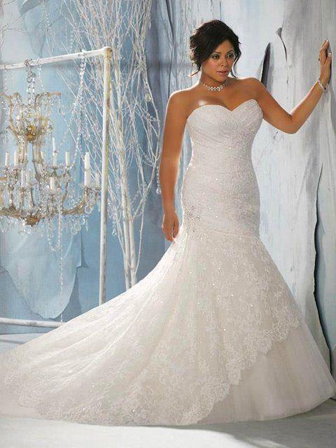 vestido de novia corte sirena y brillos para gorditas