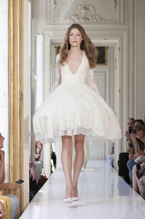 vestido de novia corto 2018 alta costura