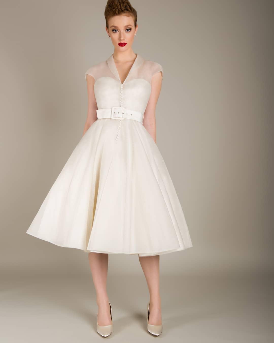vestido de novia corto 2018 estilo vintage