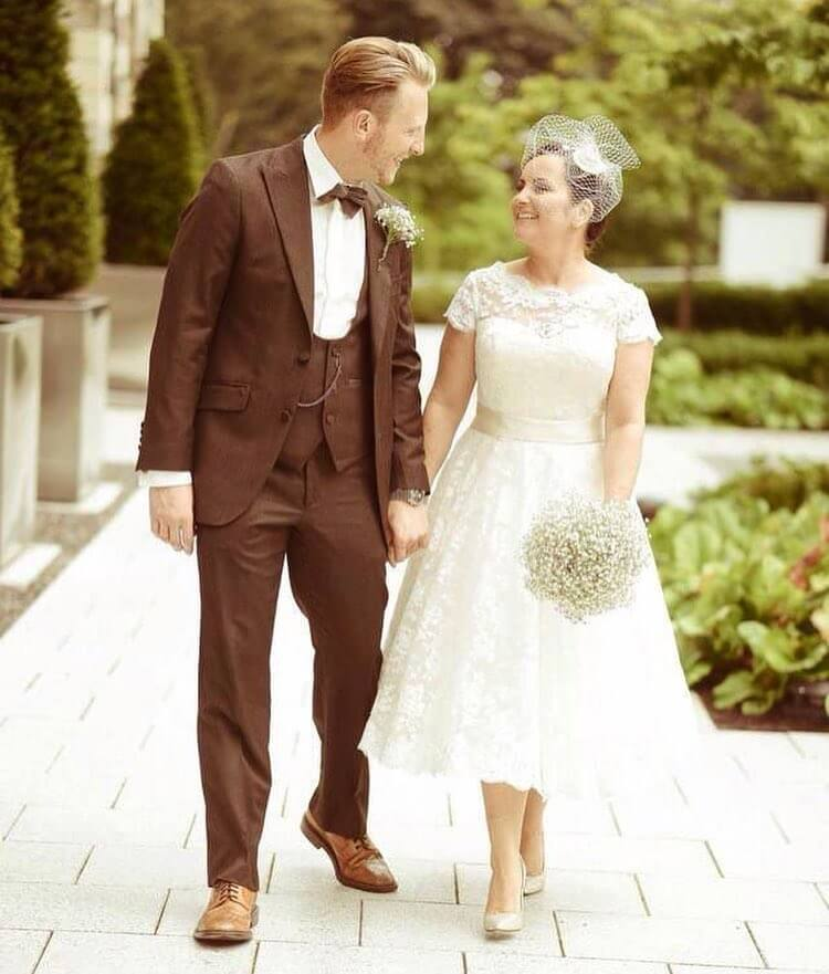 vestido de novia corto para gordita y bajita
