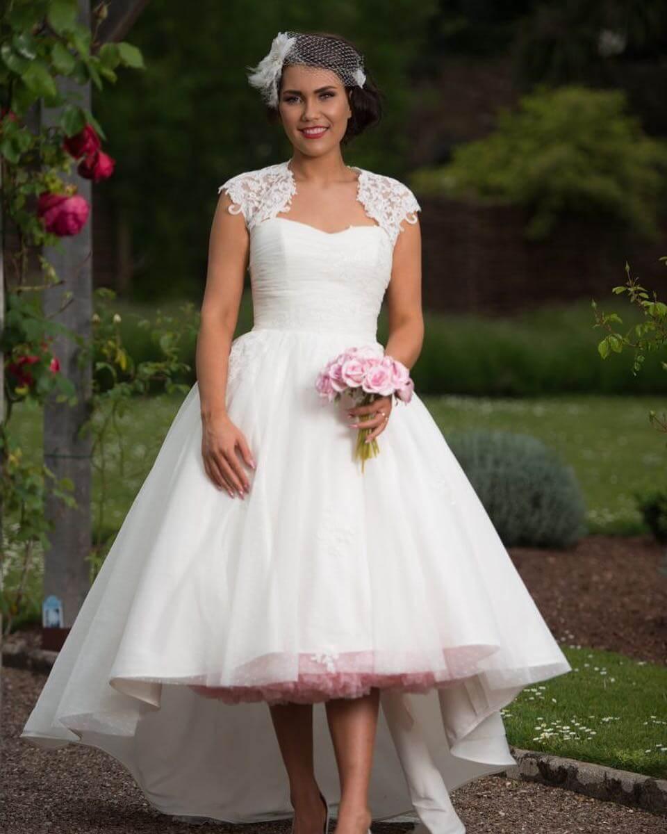 vestido de novia corto para gorditas