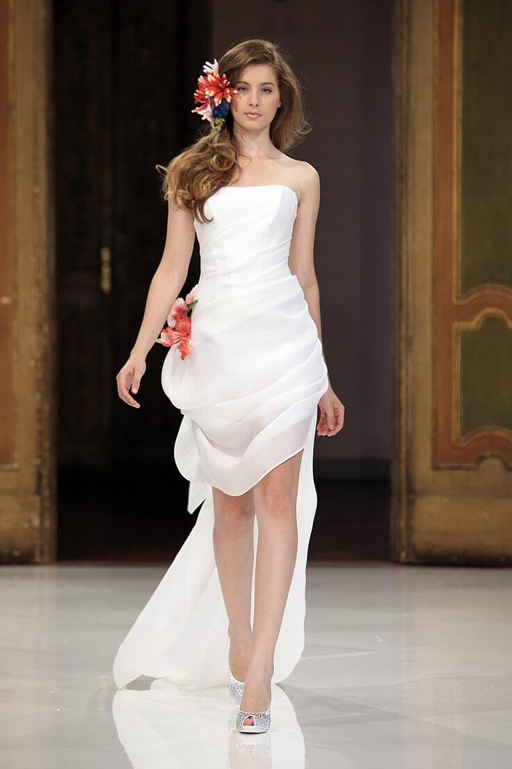 Vestido de novia sirena corto