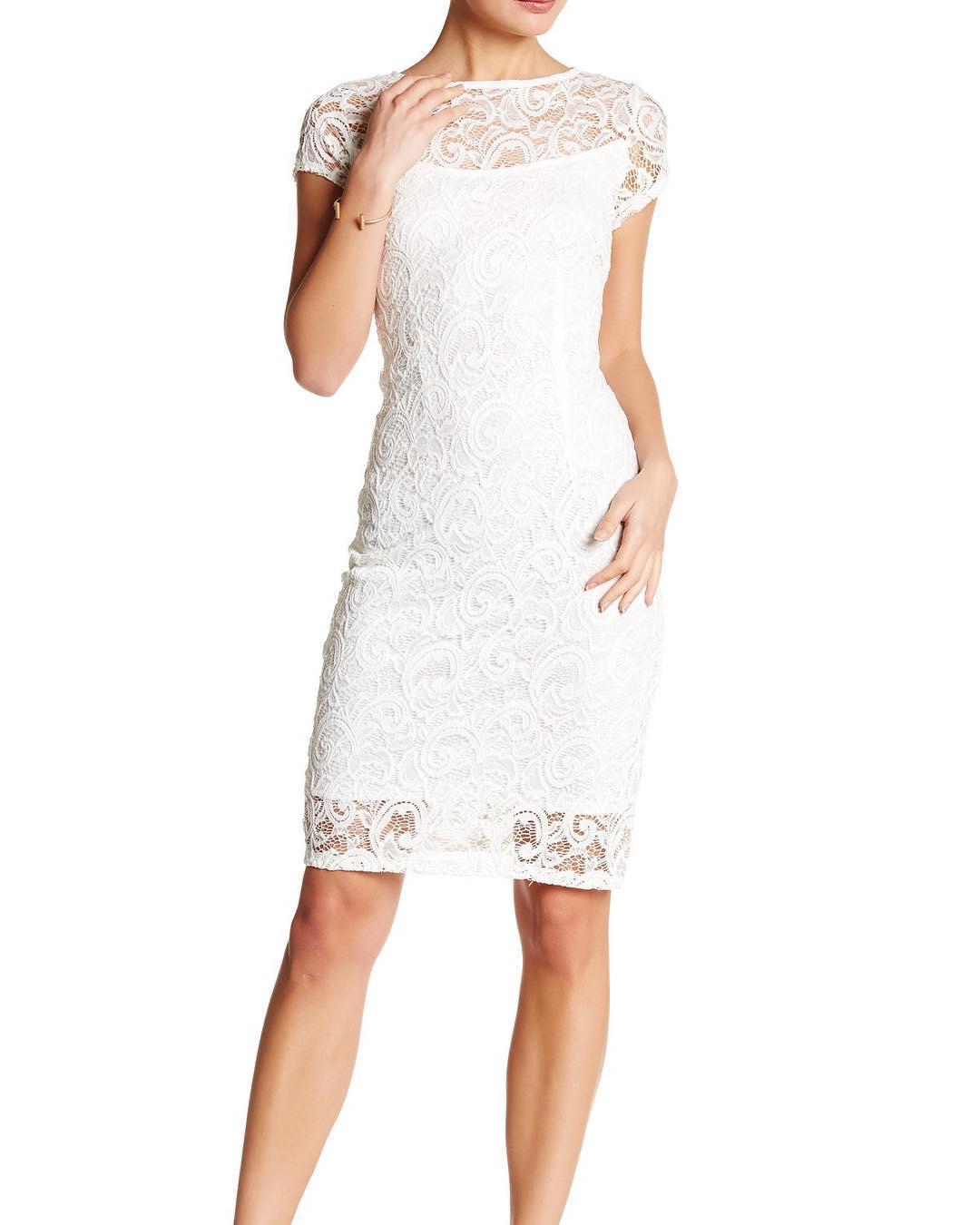 vestido de novia corto pegado