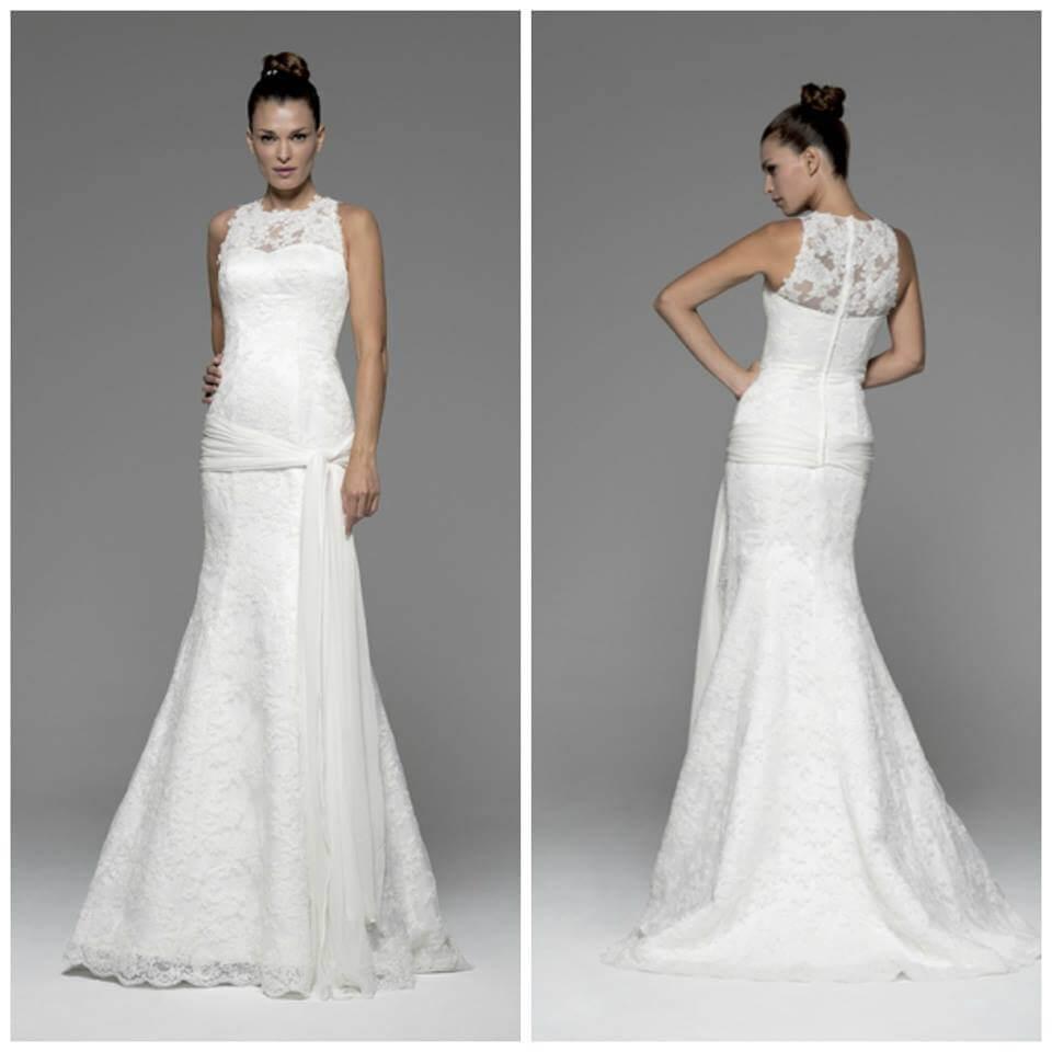 vestido de novia largo corte sirena