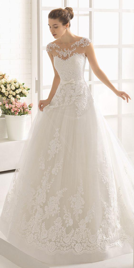 vestido de novia moderno corte princesa
