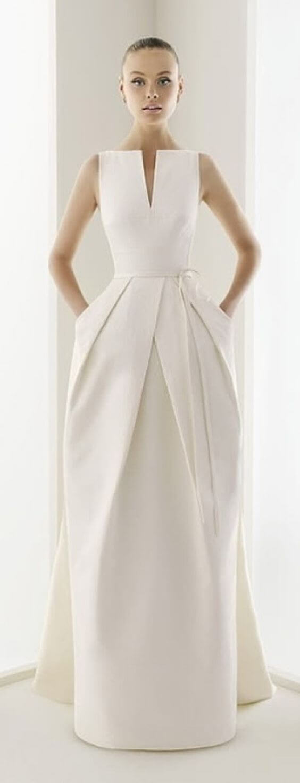 vestido de novia moderno minimalista