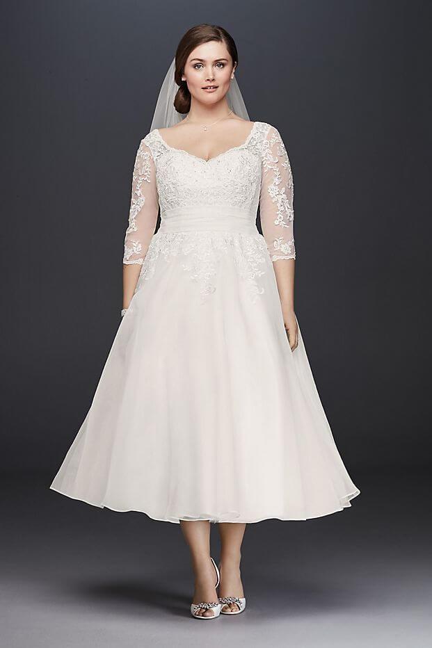 vestido de novia sencillo manga larga gorditas