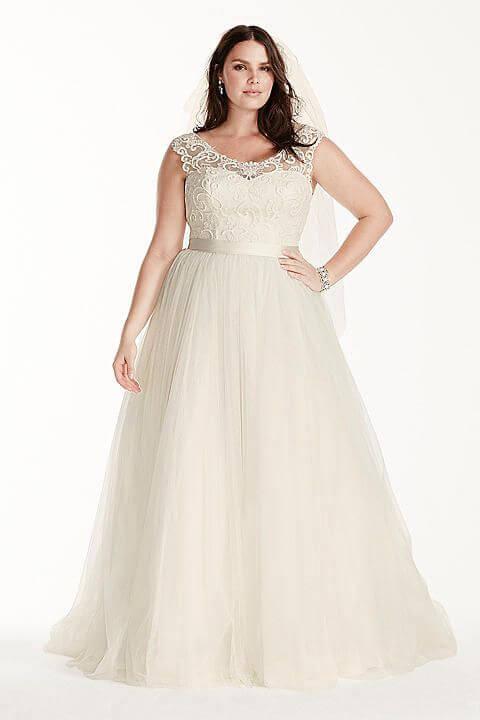 vestido de novia sencillo para gorditas