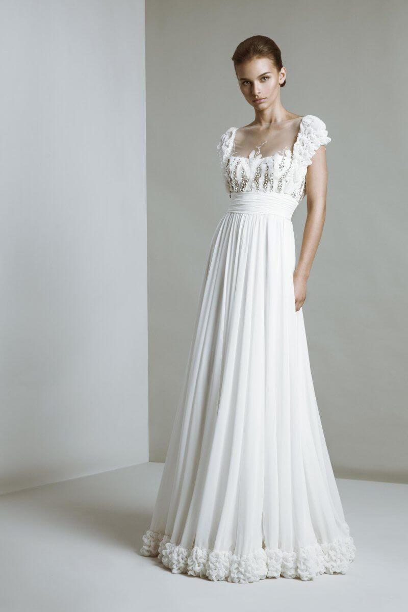 vestido de novia sencillo romantico