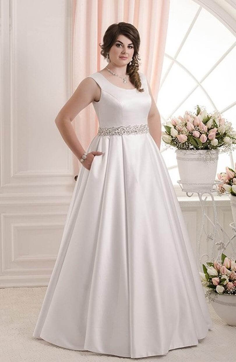 vestido de novia sencillo tallas grandes