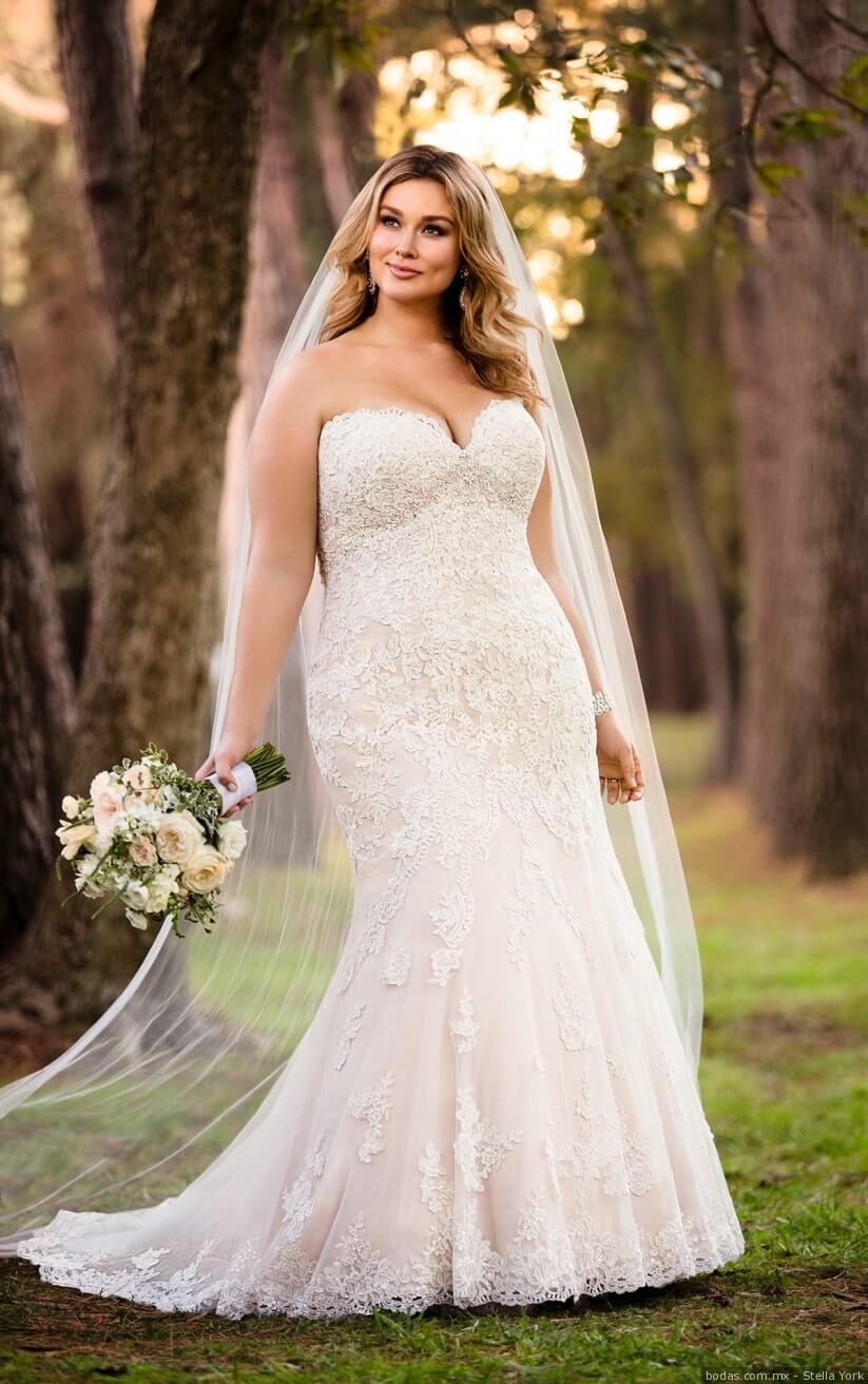 vestido de novia sexy corte sirena para gorditas