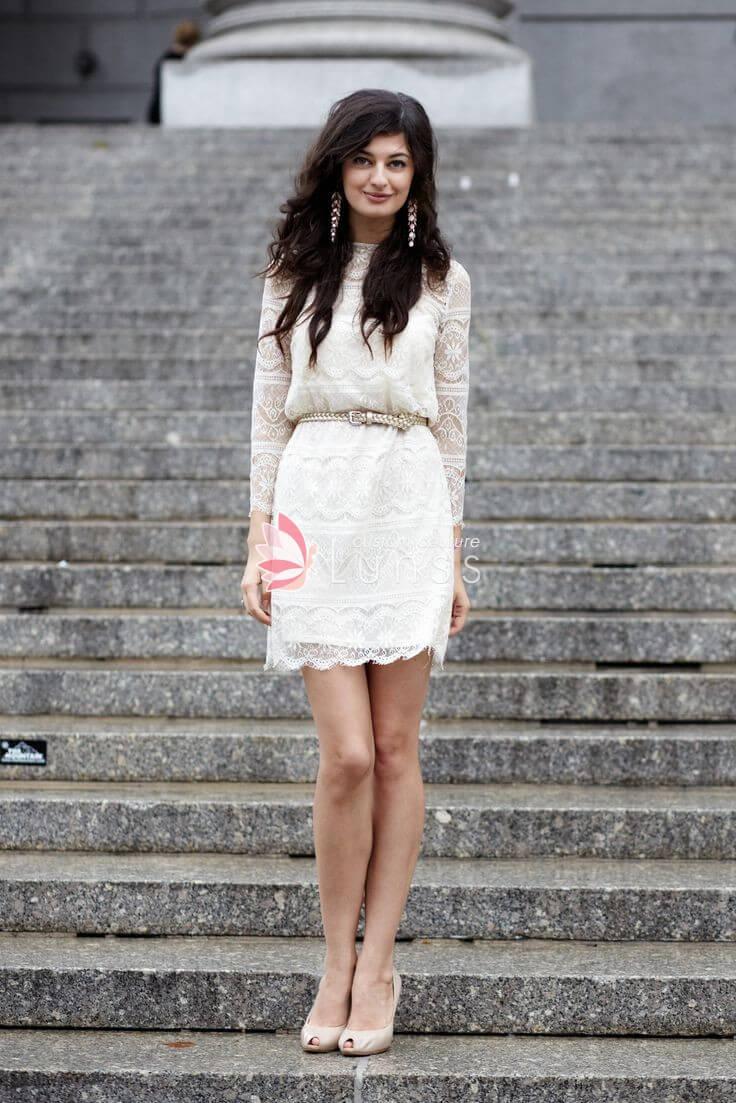 vestido de novia simple moderno
