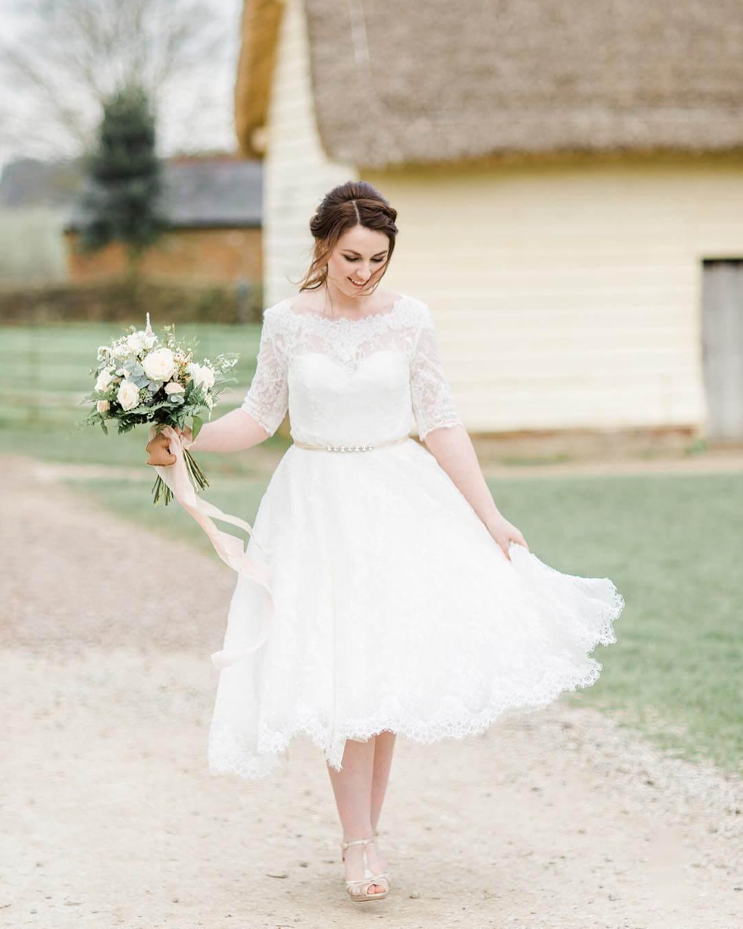 vestido de novia simple para gorditas