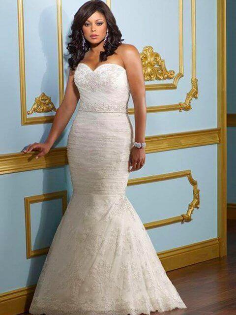 vestido de novia sirena para gorditas