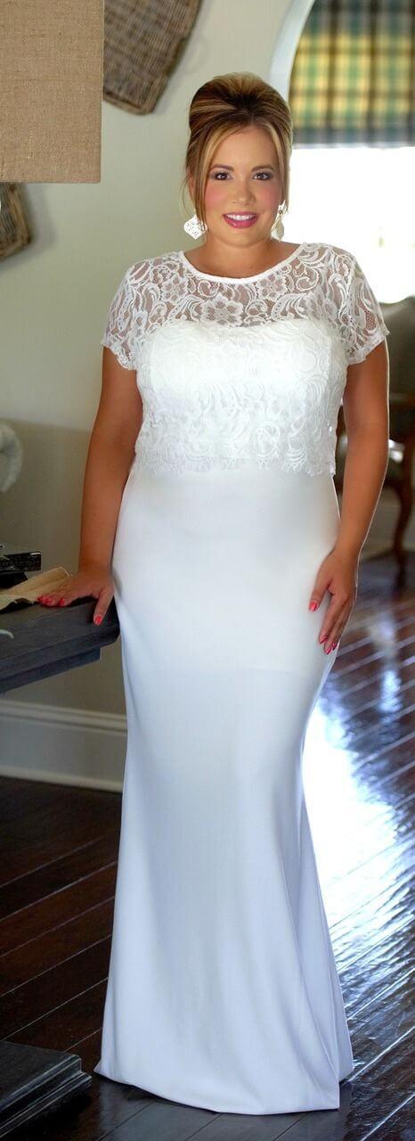 vestido novia encaje gorditas