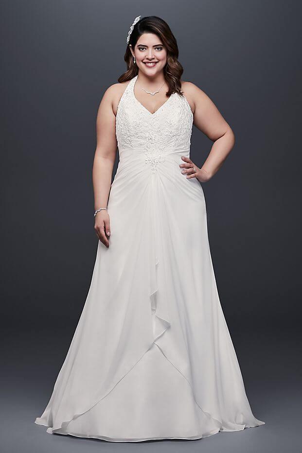 vestido novia sin manga sencillo para gorditas