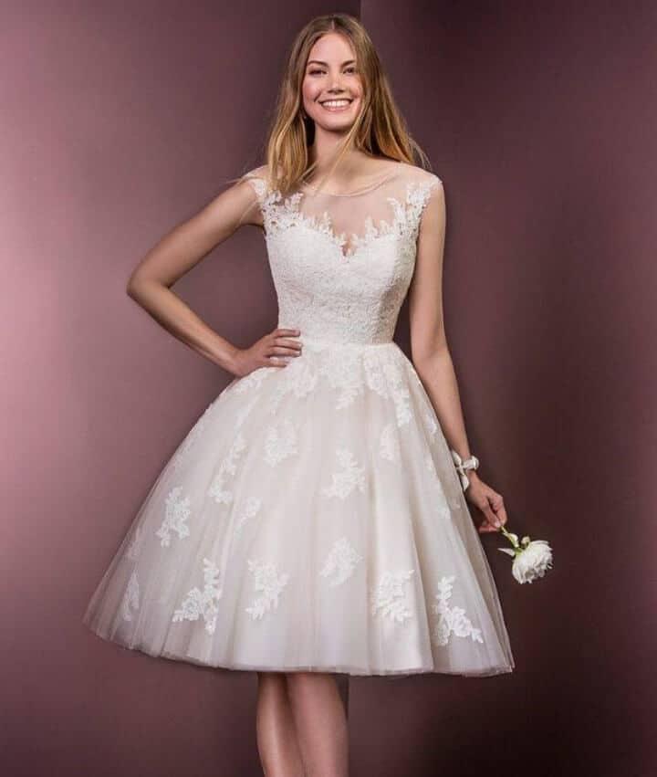 vestido para novia con encaje