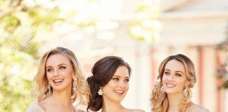 vestidos champagne damas de honor 2018