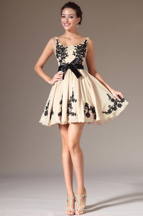 vestidos cortos dama de honor estampado
