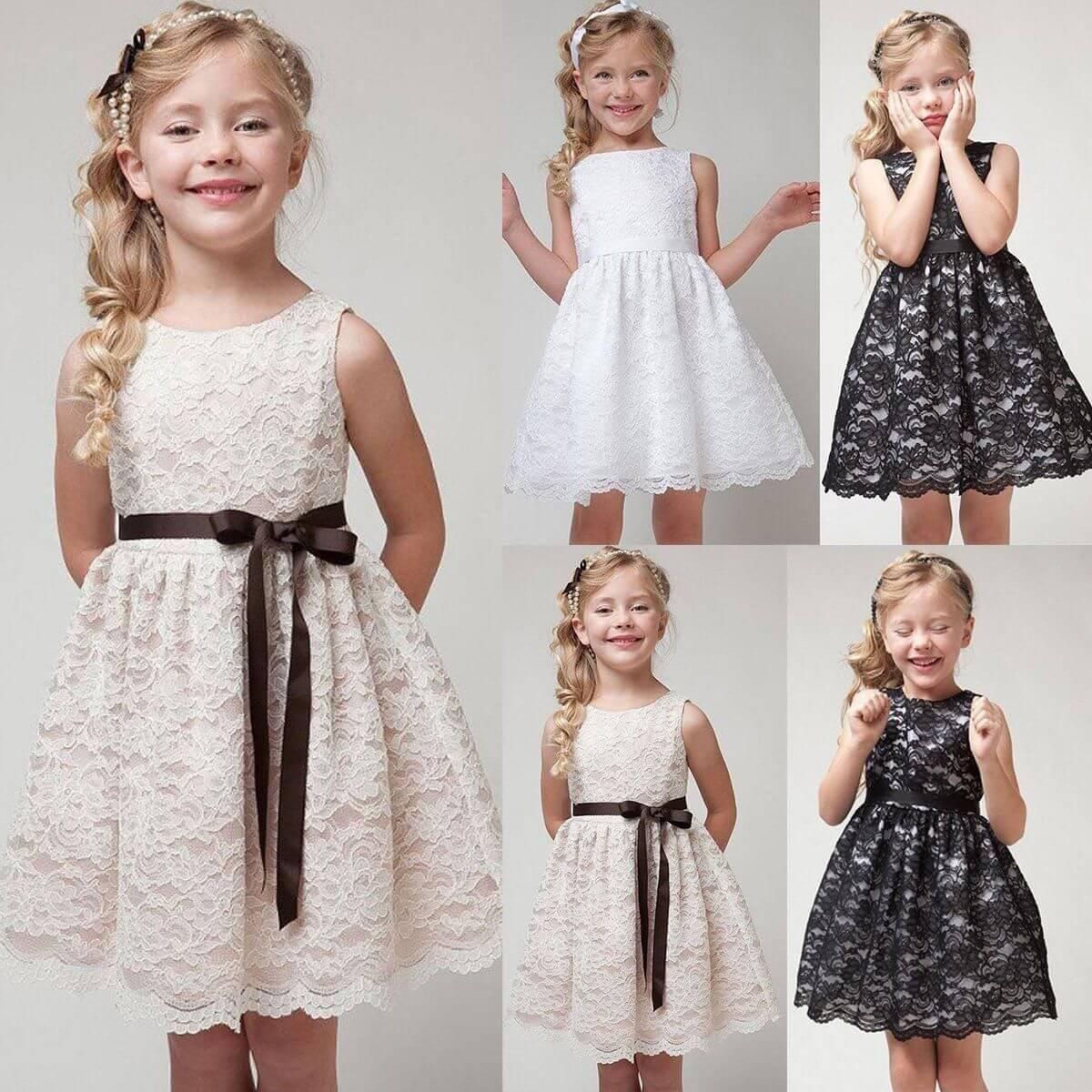 vestidos dama de honor para niña