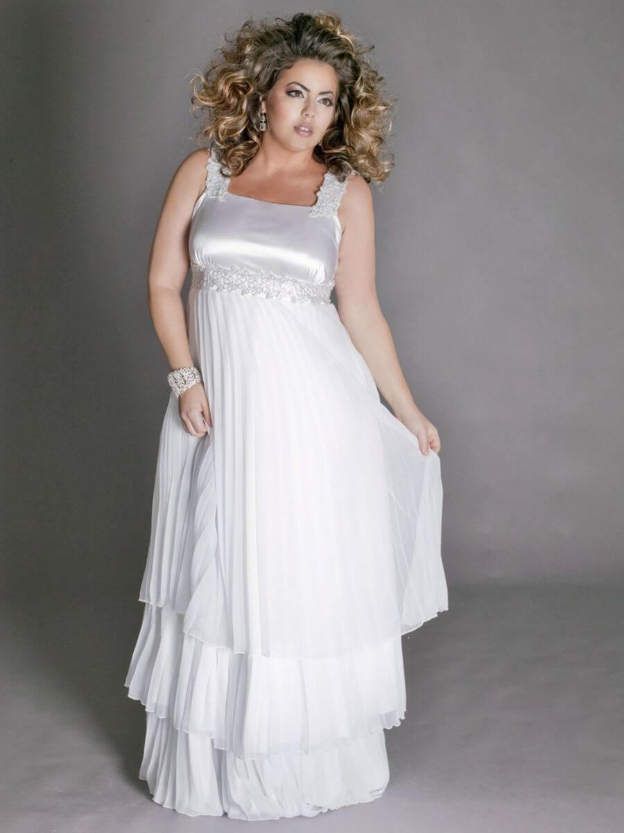 vestidos de novia con volados para gorditas