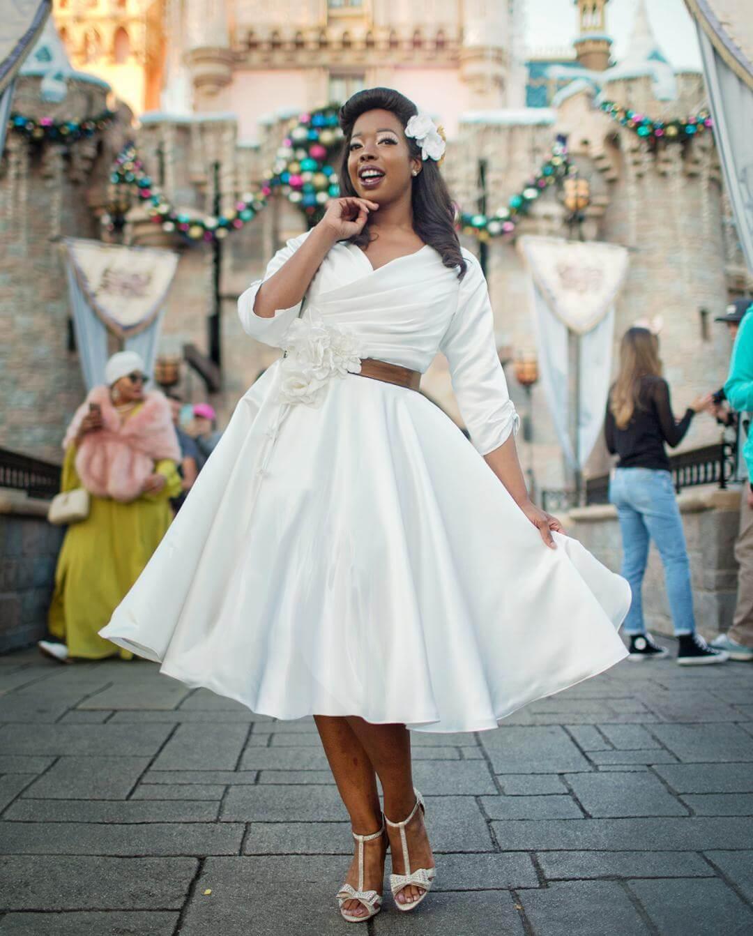 vestidos de novia corta campana para gorditas