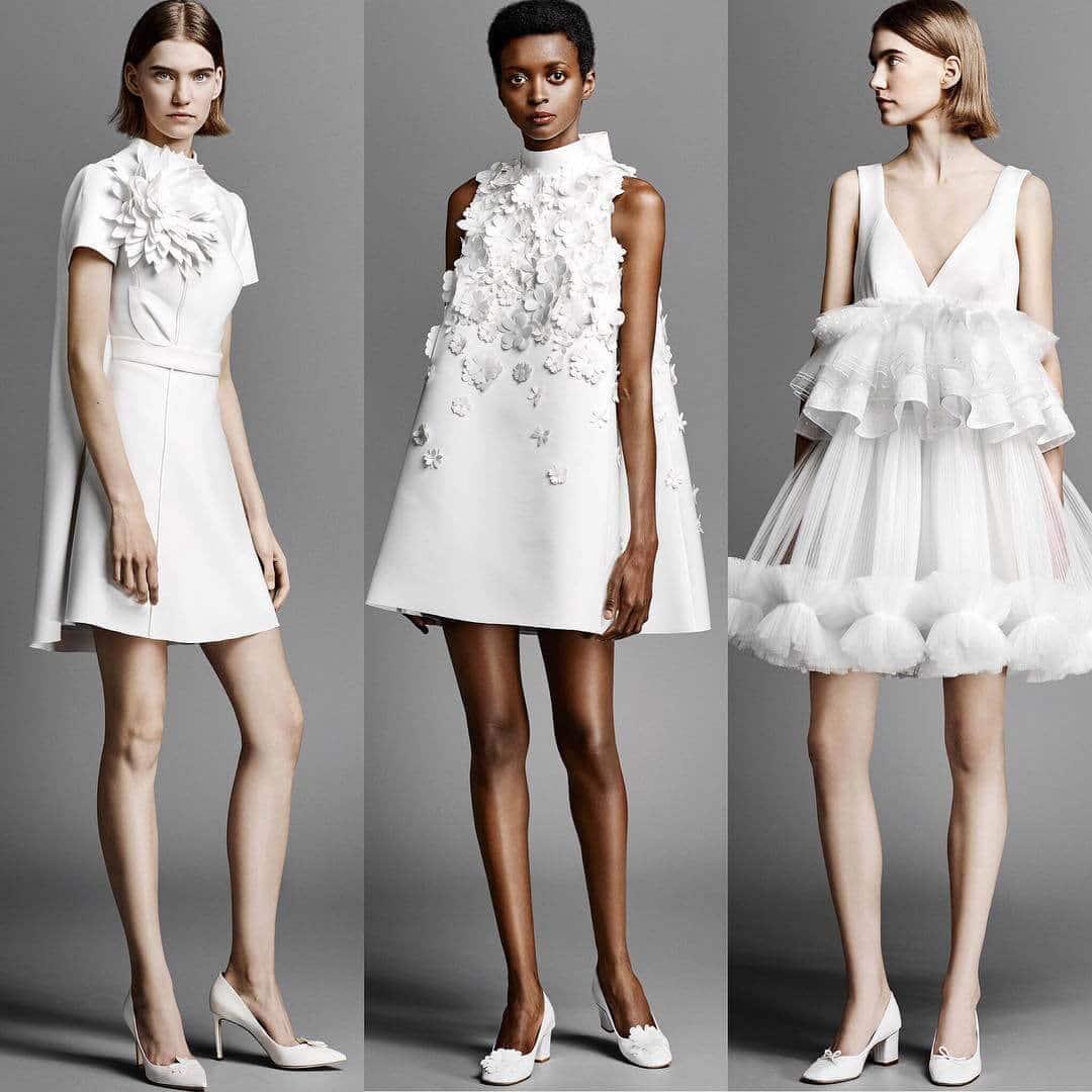 vestidos de novia cortos y modernos