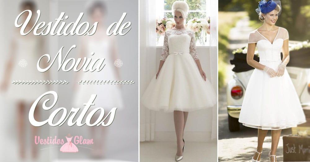 5191f69b9 ▷ Los mejores Vestidos de Novia cortos para tu boda ⭐️