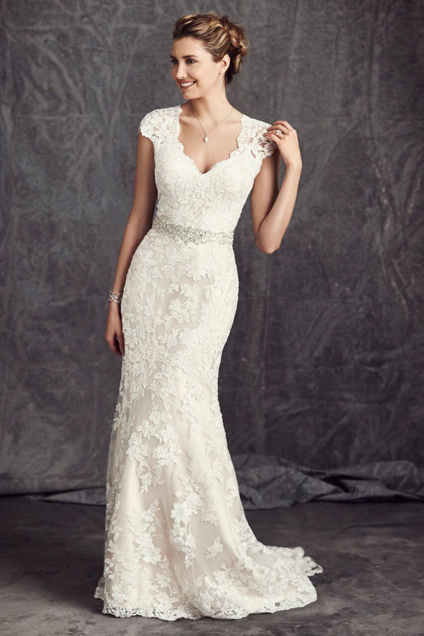 vestidos de novia largo con encaje
