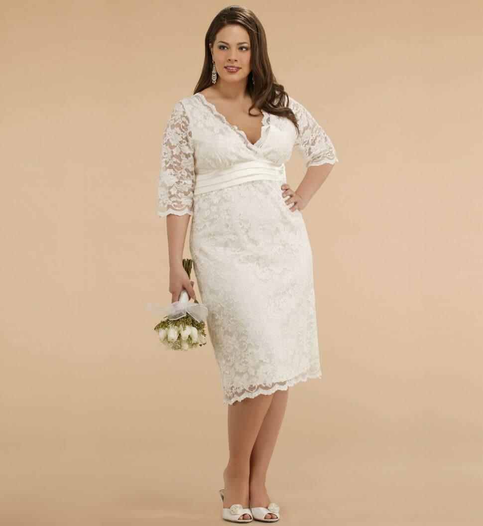 vestidos de novia para gorditas con encaje