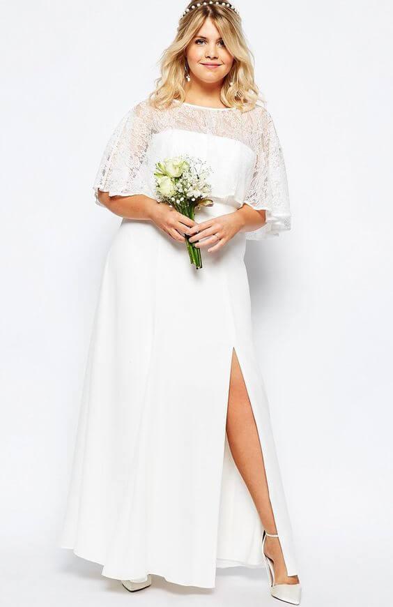 vestidos de novia sencillo para gorditas