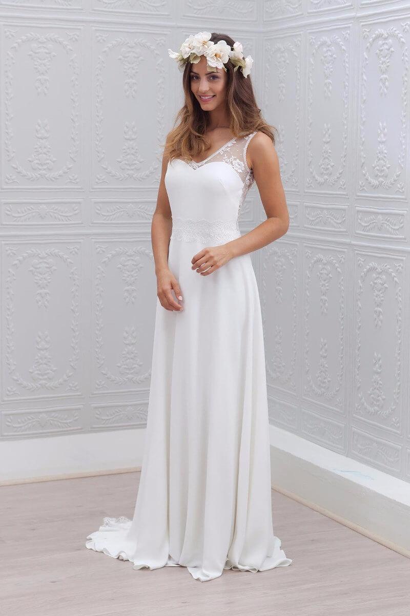vestidos de novia sencillos sin manga