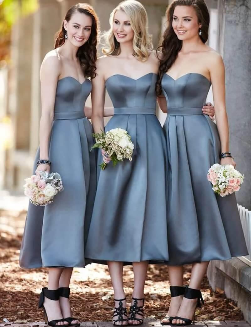 vestidos sin mangas para dama de honor